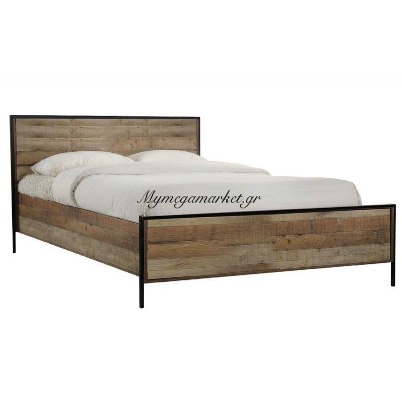 6970ac3e471 -62% Pallet Κρεβάτι 160X200 Antique Oak Στην κατηγορία Κρεβάτια ξύλινα -  Μεταλλικά | Mymegamarket.gr