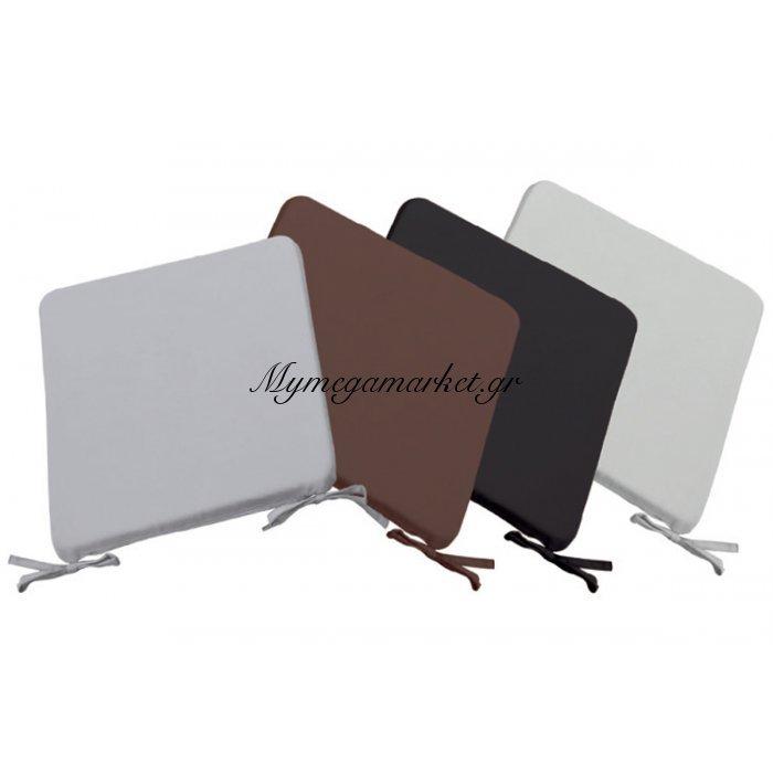 Μαξιλάρι Stool υφασμάτινο σε μαύρο χρώμα 39x39x3 | Mymegamarket.gr