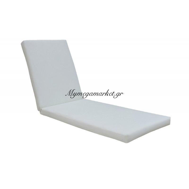 Sunlounger Μαξ.ξαπλ.λευκό Pvc 196(78+118)X60/7Cm Velcro