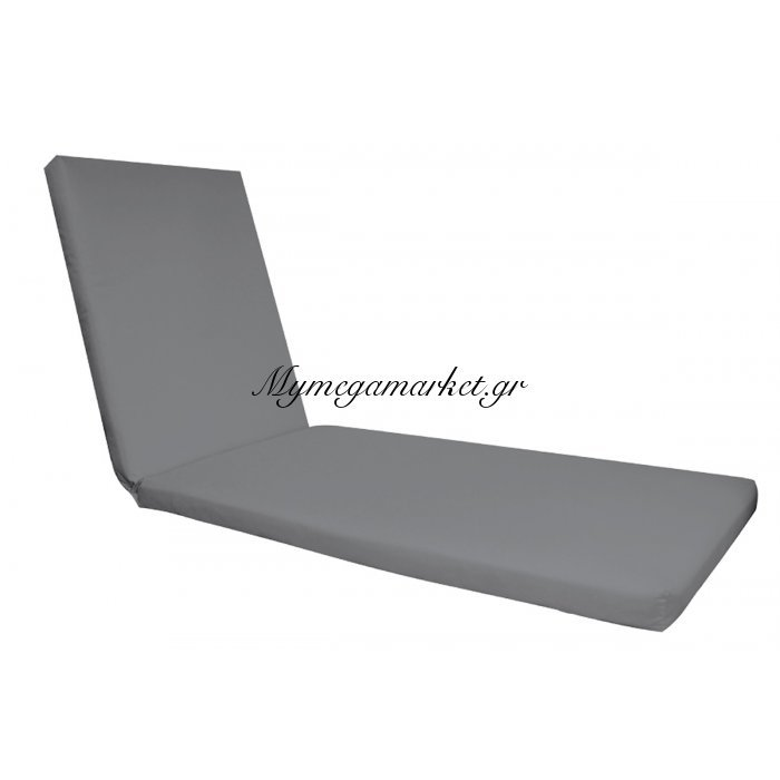 Sunlounger Μαξ.ξαπλ.γκρι Ύφ.water Repellent 196(78+118)X60/7 Velcro | Mymegamarket.gr