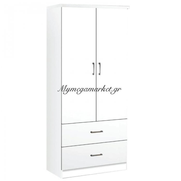 Life Ντουλάπα 2-Συρτ. 80X42X180 Λευκό | Mymegamarket.gr