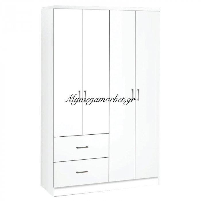 Life Ντουλάπα 4-Πόρτες 119X42X180 Λευκό | Mymegamarket.gr
