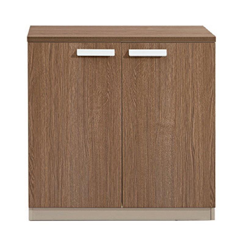 Atlas Wood Ντουλάπι Χαμηλό 80X40X80Cm Σκ.καρυδί/καφέ Στην κατηγορία Έπιπλα εισόδου - Παπουτσοθήκες | Mymegamarket.gr