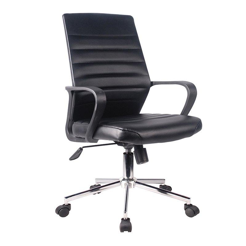 Bf3100 Πολυθρόνα Γραφείου Χρώμιο/pu Μαύρο Στην κατηγορία Καρέκλες - Πολυθρόνες γραφείου | Mymegamarket.gr