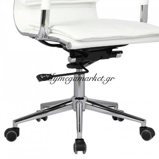 Bf3601 Πολυθρόνα Χαμ.πλάτη Λευκή Στην κατηγορία Καρέκλες - Πολυθρόνες γραφείου | Mymegamarket.gr
