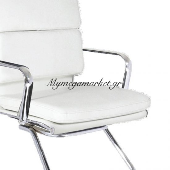 Bf4800V Πολυθρ.επισκέπτη Λευκή Στην κατηγορία Καρέκλες - Πολυθρόνες γραφείου | Mymegamarket.gr