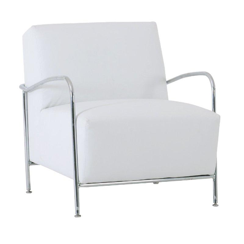 Granada Πολυθρόνα Χρώμιο/pu Άσπρο Στην κατηγορία Πολυθρόνες σαλονιού | Mymegamarket.gr