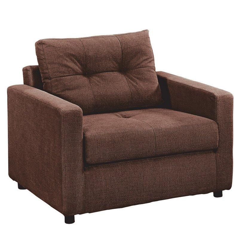 Devon Πολυθρόνα-Κρεβάτι Ύφασμα Καφέ Στην κατηγορία Πολυθρόνες σαλονιού | Mymegamarket.gr