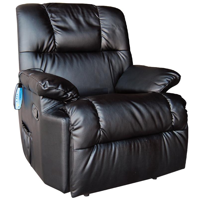 Πολυθρόνα Massage μαύρο με PU