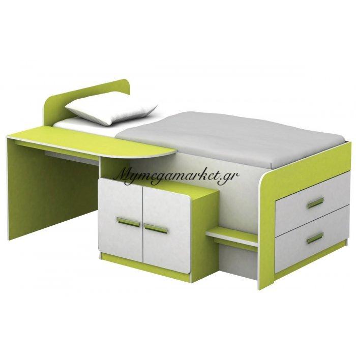 Jene Σύνθεση Παιδικού Δωματίου Άσπρο/lime | Mymegamarket.gr