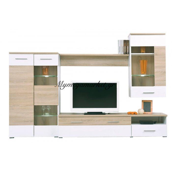 Life Σύνθεση Τοίχου 210X40X120 Sonoma/λευκό | Mymegamarket.gr