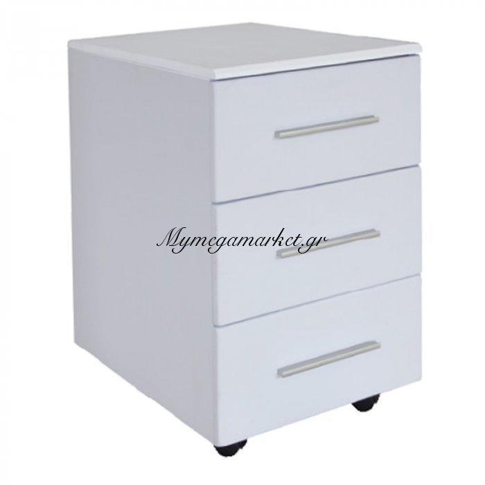 Συρταριέρα (3Σ) 40X54X63 Λευκή Melamine | Mymegamarket.gr