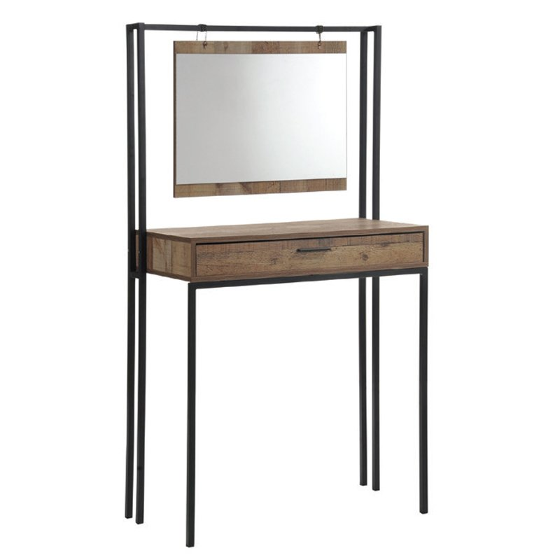 Τουαλέτα με καθρέφτη Pallet σε χρώμα antique oak 84x40x150