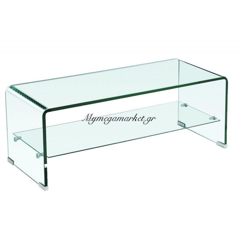 Glasser Clear Τραπ.σαλονιού Με Ράφι Γυαλί 12Mm 100X50X43Cm Στην κατηγορία Τραπέζια σαλονιού | Mymegamarket.gr