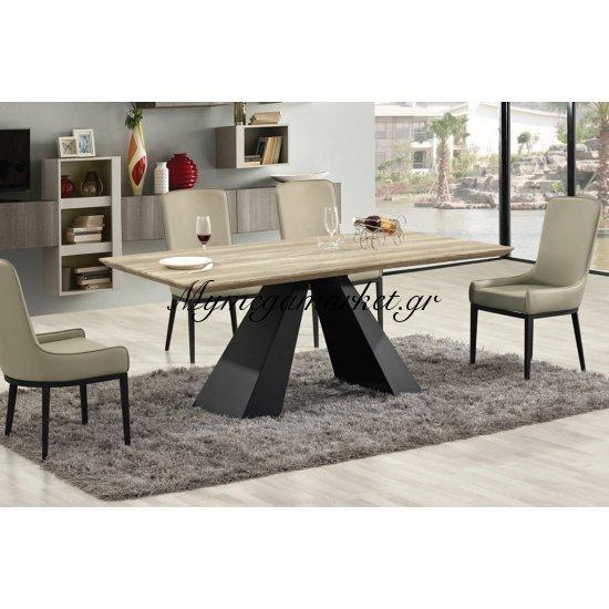 Tραπέζι Bellino μαύρο με απόχρωση σημύδας επιφάνειας MDF 180x100x75 Στην κατηγορία Τραπέζια - Τραπεζαρίες | Mymegamarket.gr