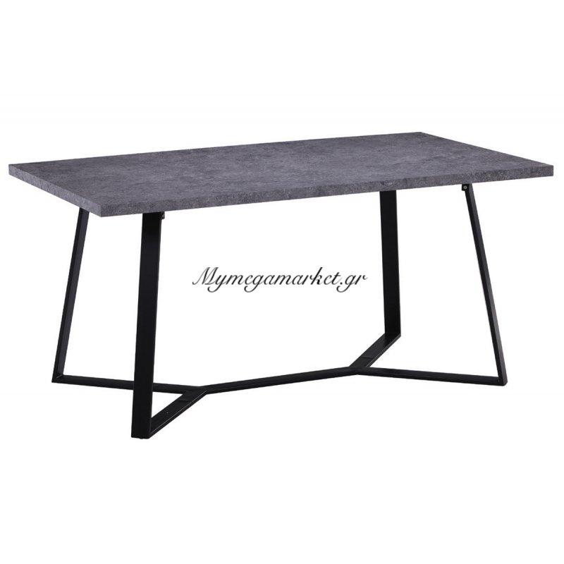 Hanson Τραπέζι 160X90Cm Cement/βαφή Μαύρη Στην κατηγορία Τραπέζια - Τραπεζαρίες | Mymegamarket.gr