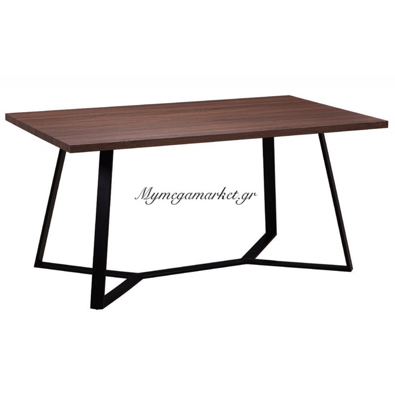 Τραπέζι Hanson σε χρώμα σκούρο καρυδί 160x90x75
