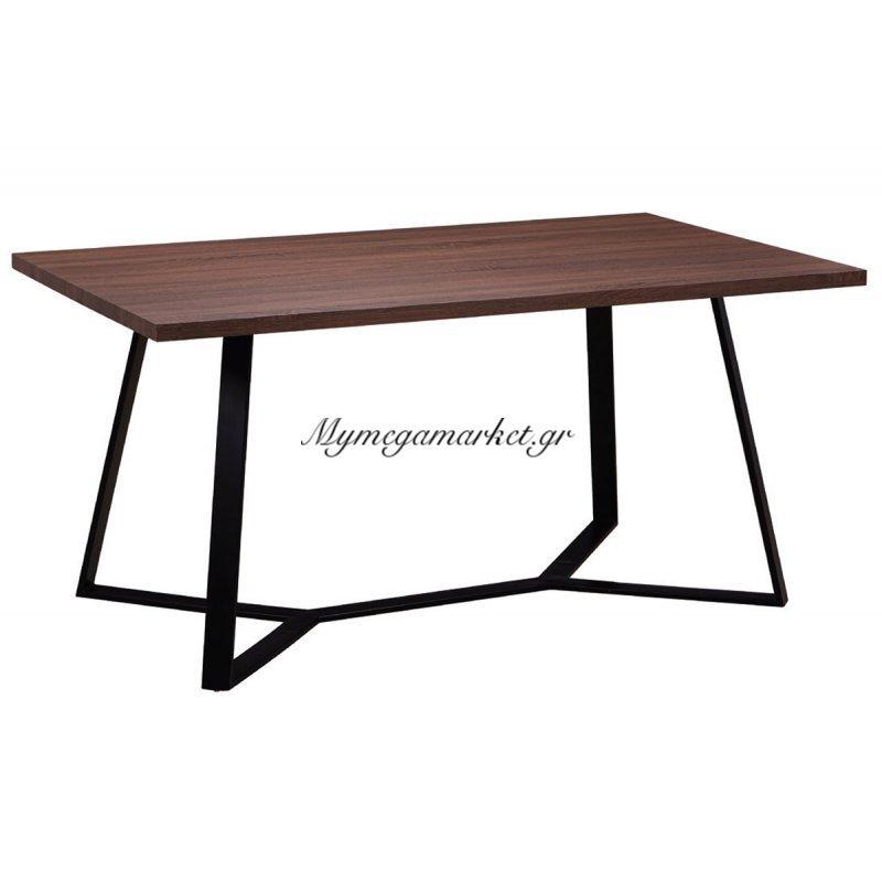Hanson Τραπέζι 160X90Cm Σκ.καρυδί/βαφή Μαύρη Στην κατηγορία Τραπέζια - Τραπεζαρίες | Mymegamarket.gr