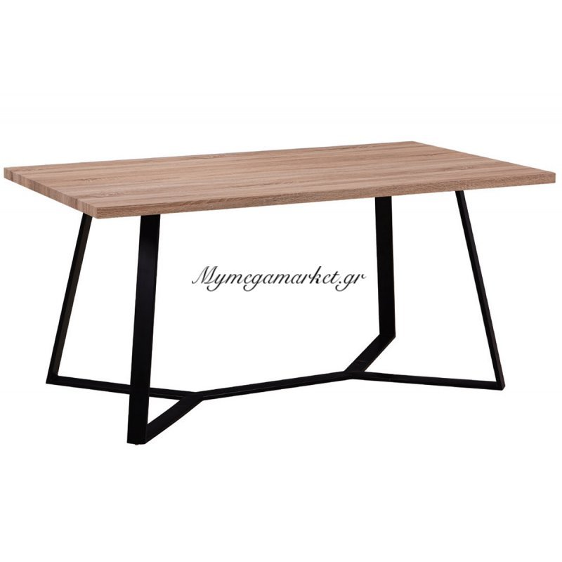 Hanson Τραπέζι 160X90Cm Sonoma/βαφή Μαύρη Στην κατηγορία Τραπέζια - Τραπεζαρίες | Mymegamarket.gr