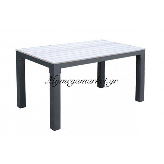 Desert Τραπ.150X92Cm Alu Ανθρακί/polywood Natural Στην κατηγορία Τραπέζια κήπου | Mymegamarket.gr