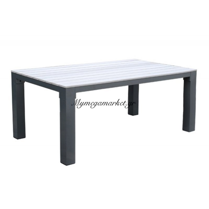Desert Τραπ.180X104Cm Alu Ανθρακί/polywood Natural Στην κατηγορία Τραπέζια κήπου | Mymegamarket.gr