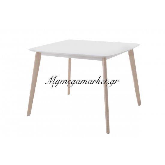 Calvin Τραπέζι 90X90Cm White Wash/λευκό Στην κατηγορία Τραπέζια - Τραπεζαρίες   Mymegamarket.gr
