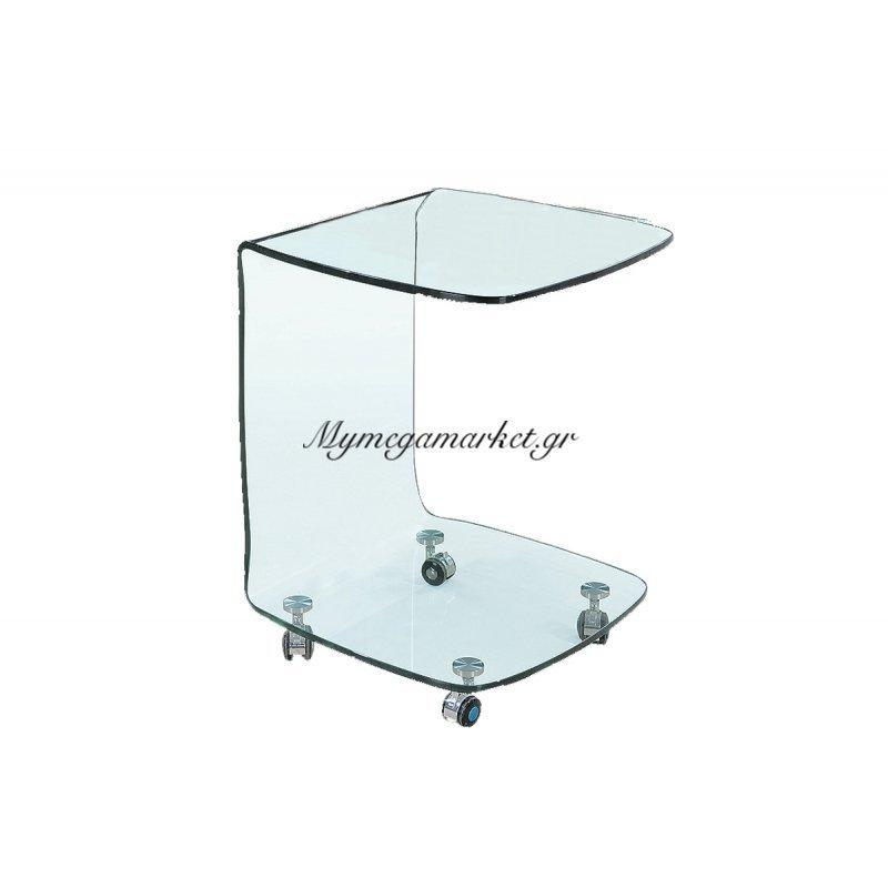 Glasser Clear Trolley Γυαλί 10Mm 45X45X60Cm Στην κατηγορία Βοηθητικά τραπεζάκια σαλονιού | Mymegamarket.gr