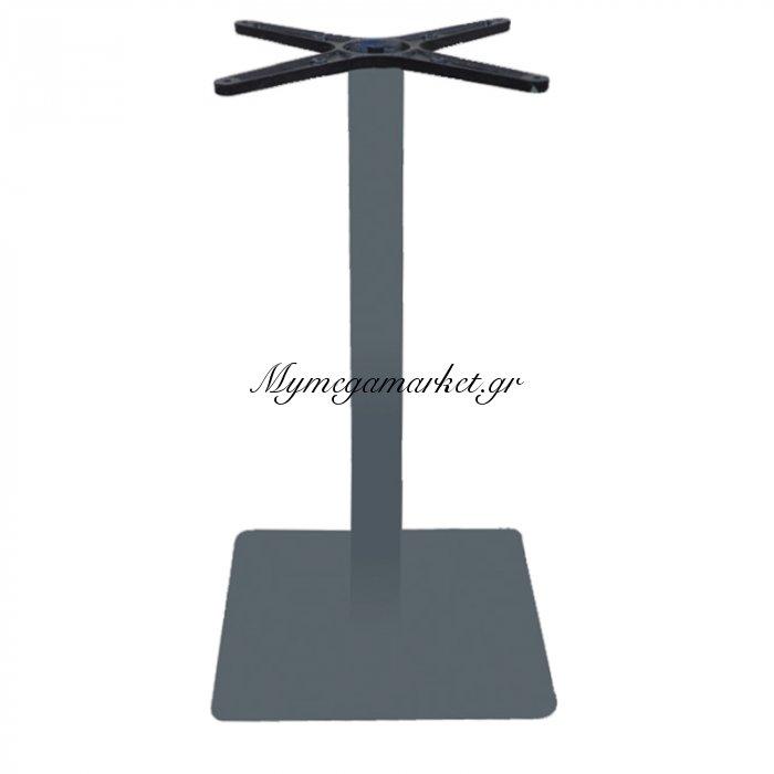 Prato Βάση 40X40Cm Steel H72Cm Γκρι | Mymegamarket.gr