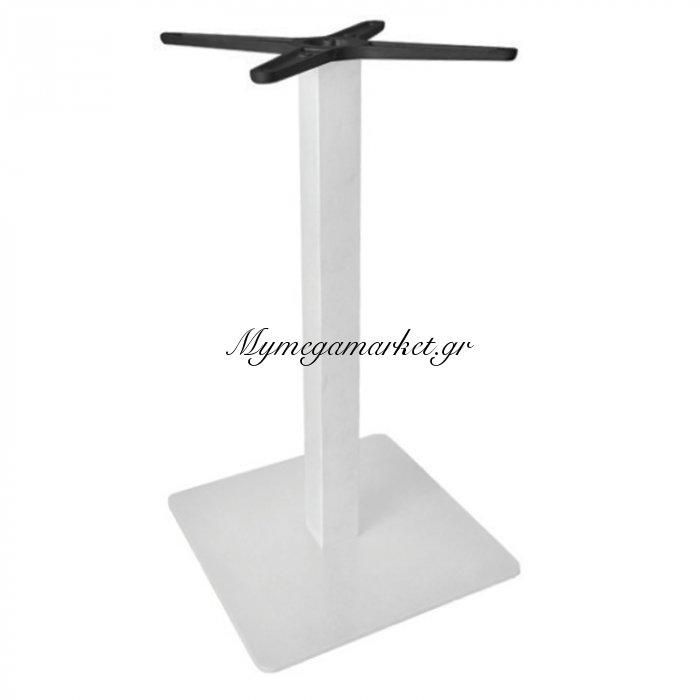 Prato Βάση 40X40Cm Steel H72Cm Άσπρη | Mymegamarket.gr
