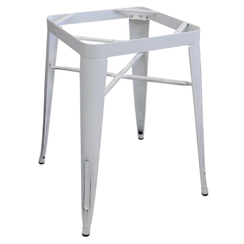 Βάση τραπεζιού Relix steel antique white με 4 πόδια
