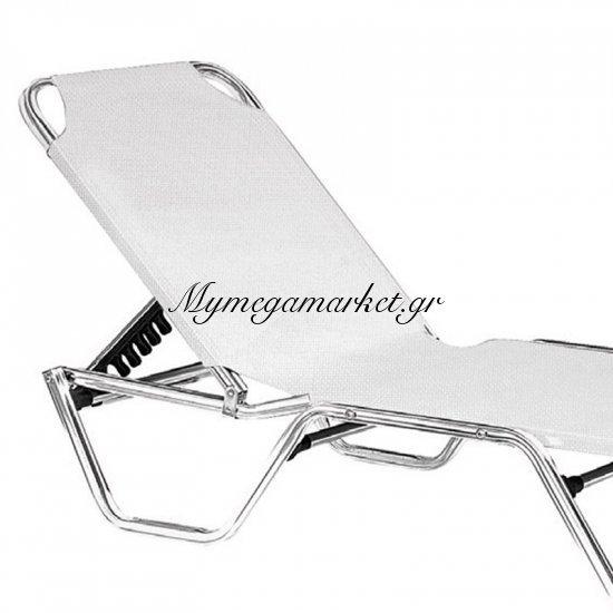 Creta Ξαπλώστρα Alu/textilene Λευκό Στην κατηγορία Ξαπλώστρες - Καρέκλες παραλίας | Mymegamarket.gr