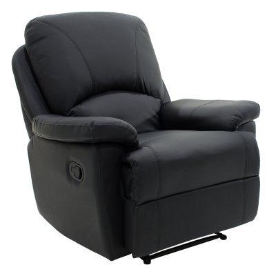 Πολυθρόνα Stanley ανοιγόμενη με PU χρώμα μαύρο ματ | Mymegamarket.gr