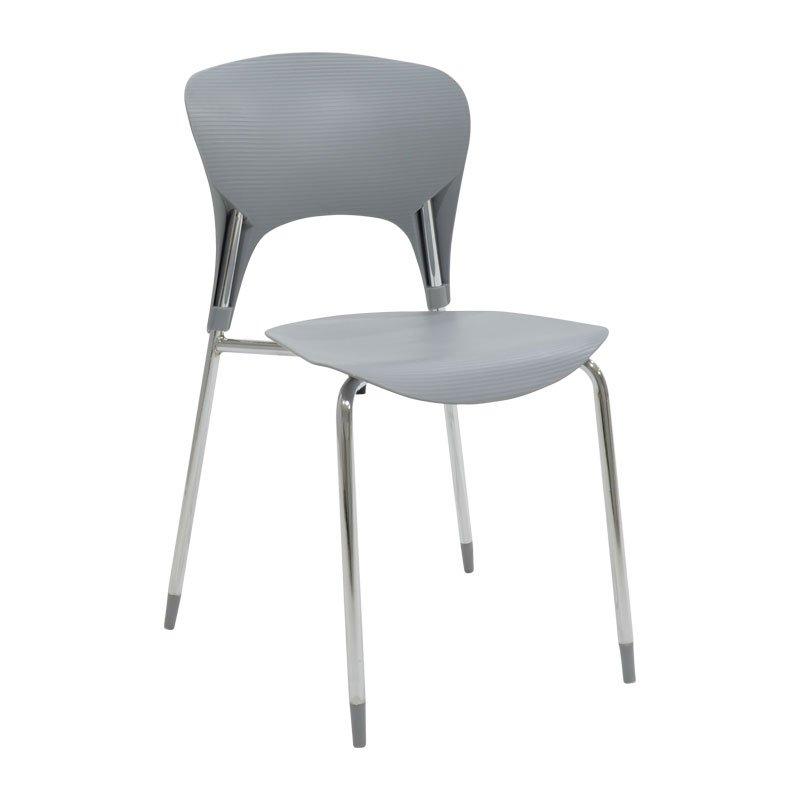Καρέκλα Lousia πολυπροπυλενίου χρώμα γκρι επαγγελματική κατασκευή
