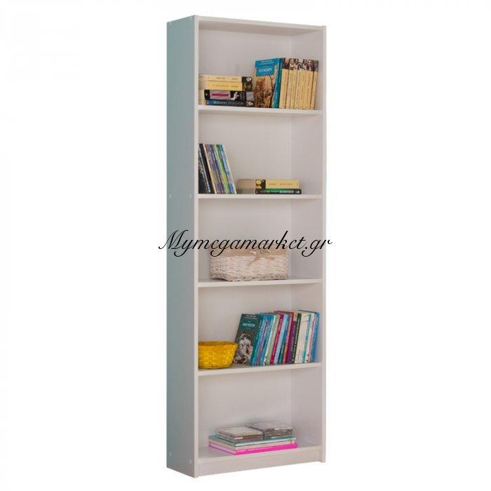 Βιβλιοθήκη Max σε λευκό χρώμα 58x23x170 εκ | Mymegamarket.gr