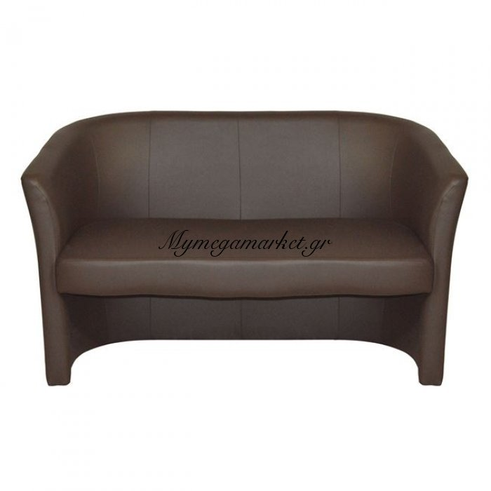 Καναπές 2Θέσιος Με Δερματική Καφέ Hm3091.03 Appolon | Mymegamarket.gr