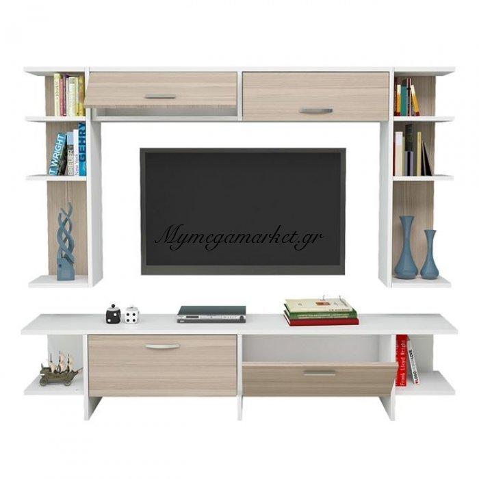 Έπιπλο Τηλεόρασης Cathy Hm2260 Λευκό - Sonama | Mymegamarket.gr