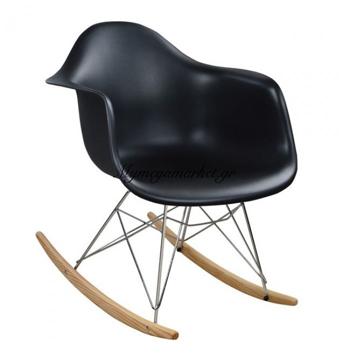 Πολυθρόνα Κουνιστή Με Κάθισμα Μαύρο Mirto Hm0035.02 | Mymegamarket.gr