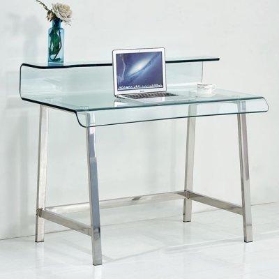 Γραφείο Γύαλινο Με Σκελετό inox Hm8094 110X56X90Υεκ. | Mymegamarket.gr