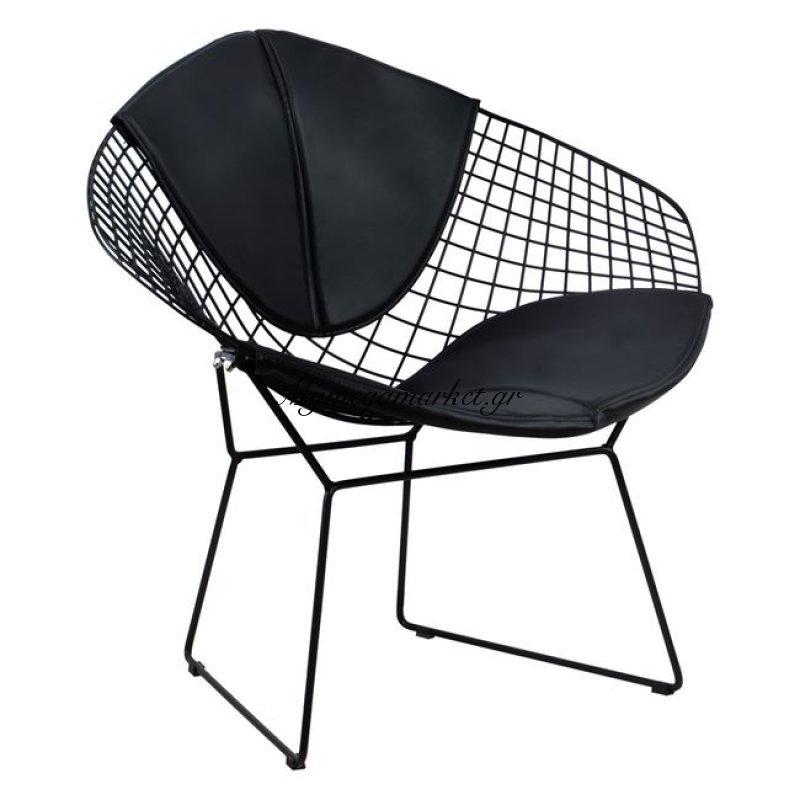 Καρέκλα Πολυθρόνα Cloe Hm8045.01 Μαύρη Με Μαύρο Pu