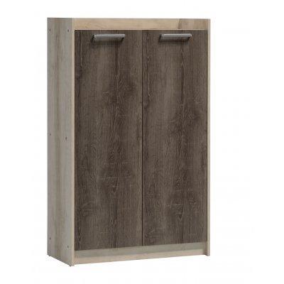Παπουτσοθήκη-ντουλάπι OLYMPUS χωρητικότητα 18 ζεύγη χρώμα castillo-toro δρυς 76x35x121εκ. | Mymegamarket.gr