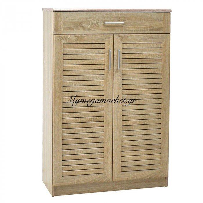 Παπουτσοθήκη-ντουλάπι SANTE με 2 πόρτες & 1 συρτάρι χωρητικότητα 30 ζεύγη χρώμα sonoma 80x40x123εκ. | Mymegamarket.gr