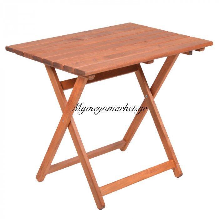 Τραπέζι Areti πτυσσόμενο απο μασίφ ξύλο οξιάς τετράγωνο 60x60 κερασί εμποτισμού | Mymegamarket.gr