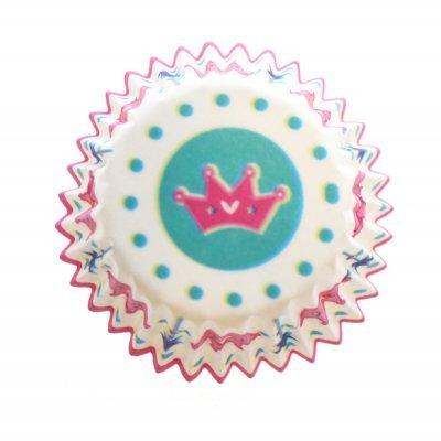 Φορμάκια χάρτινα σέτ 100τμχ. Σχέδιο με στέμα 7 cm