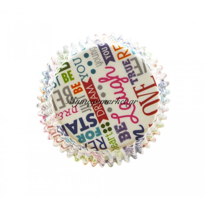 Φορμάκια χάρτινα σέτ 75 τμχ. με σχέδιο letter 9 cm | Mymegamarket.gr