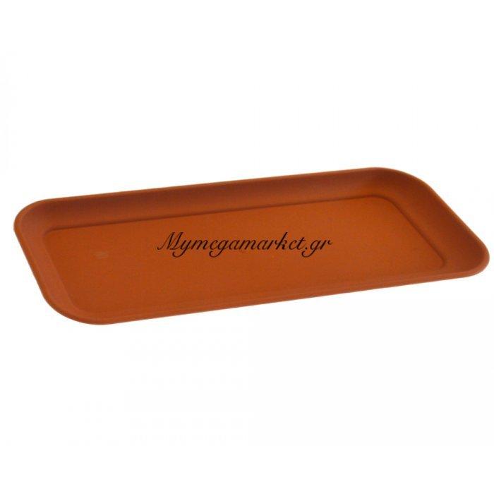 Δίσκος ζαρντινιέρα πλαστικό καφέ - Νο 40 | Mymegamarket.gr
