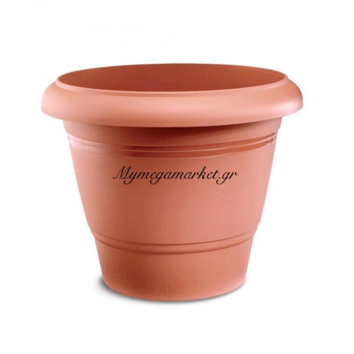 Γλάστρα πλαστική καφέ - Νο 1 - 24 x 17 cm | Mymegamarket.gr