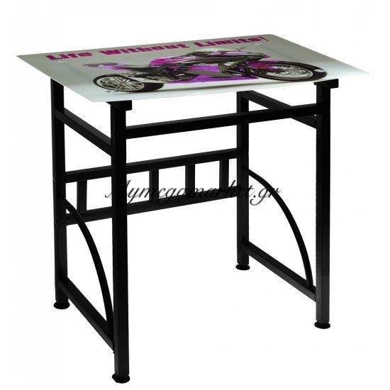 Γραφείο γυάλινο με μεταλλικό σκελετό - Kawasaki - Desk-6-32 - Tns Στην κατηγορία Γραφεία   Mymegamarket.gr