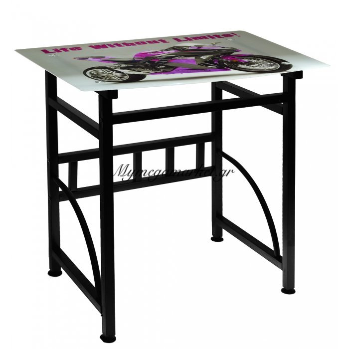 Γραφείο γυάλινο με μεταλλικό σκελετό - Kawasaki - Desk-6-32 - Tns | Mymegamarket.gr