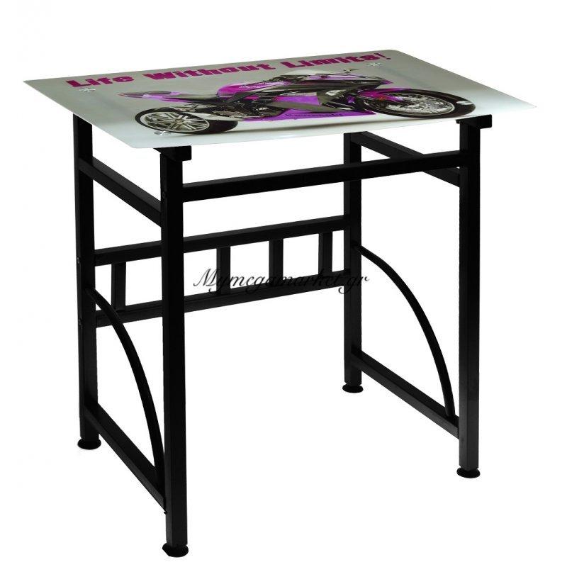 Γραφείο γυάλινο με μεταλλικό σκελετό - Kawasaki - Desk-6-32 - Tns