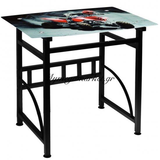 Γραφείο γυάλινο με μεταλλικό σκελετό - Μηχανή - Desk-6-31 - Tns Στην κατηγορία Γραφεία | Mymegamarket.gr